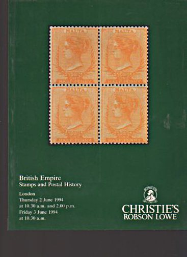 Christies 1994 British Empire Stamps & Postal History