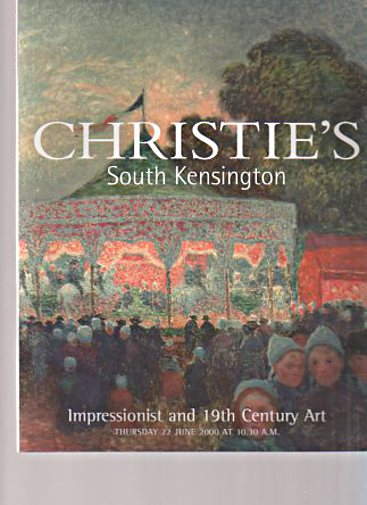 Christies June 2000 Impressionist and 19th Century Art