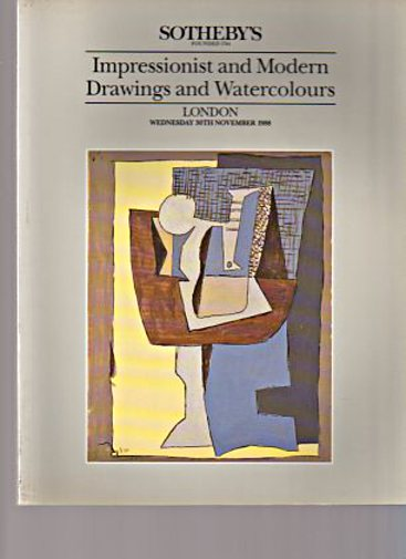 Sothebys November 1988 Impressionist & Modern Drawings & Watercolours