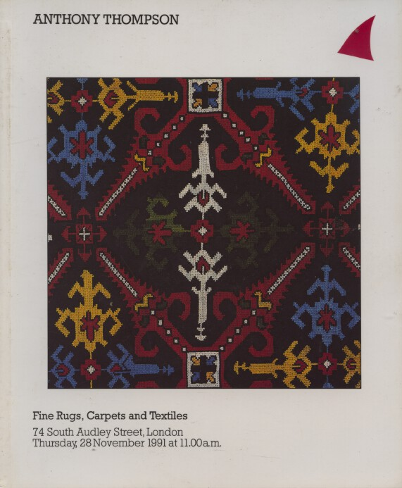 Anthony Thompson November 1991 Fine Rugs, Carpets and Textiles