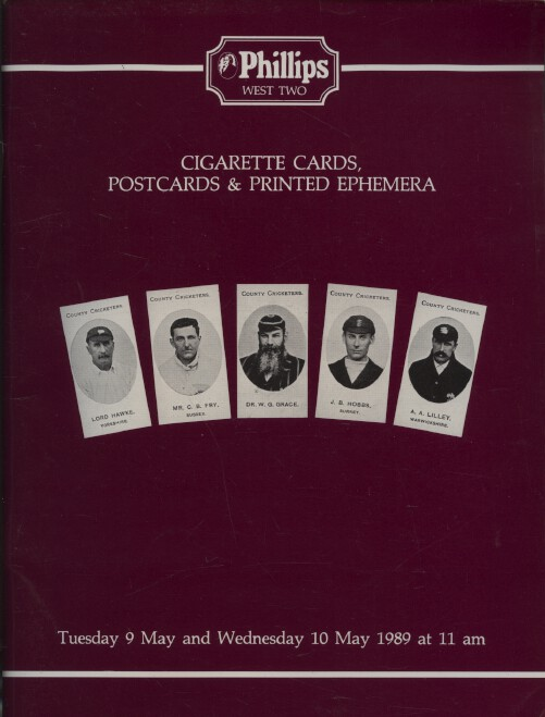 Phillips May 1989 Cigarette Cards, Postcards & Printed Ephemera