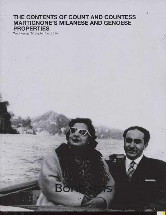 Bonhams Sept 2014 Contents of Count & Countess Martignone's Properties