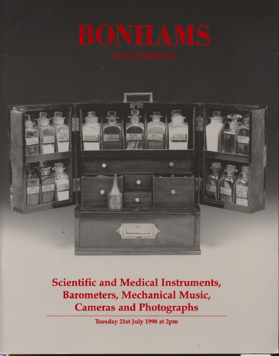 Bonhams July 1998 Scientific & Medical Instruments, Barometers, Cameras, Music