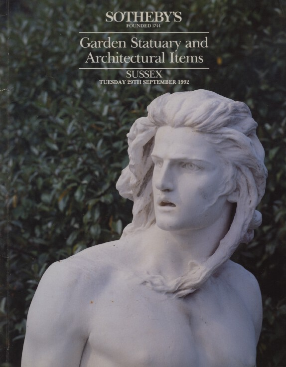 Sothebys September 1992 Garden Statuary and Architectural Items