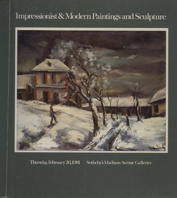 Sothebys February 1981 Impressionist & Modern Paintings & Sculpture