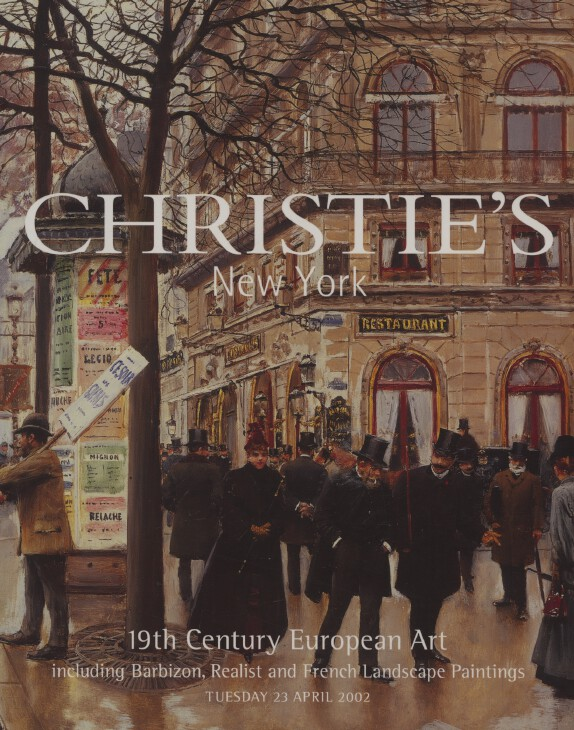Christies April 2002 19th Century European Art inc. Barbizon, Realist etc.