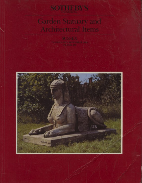 Sothebys September 1988 Garden Statuary and Architectural Items