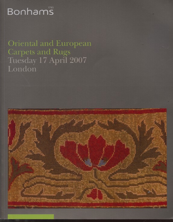 Bonhams April 2007 Oriental & European Carpets and Rugs