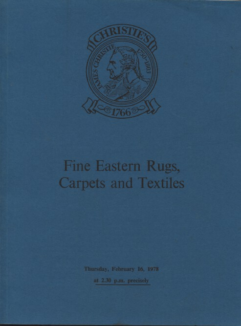 Christies February 1978 Fine Eastern Rugs, Carpets and Textiles