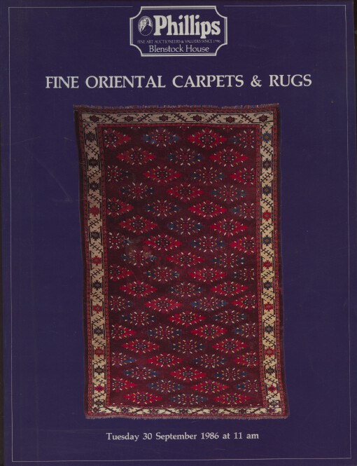 Phillips September 1986 Fine Oriental Carpets & Rugs