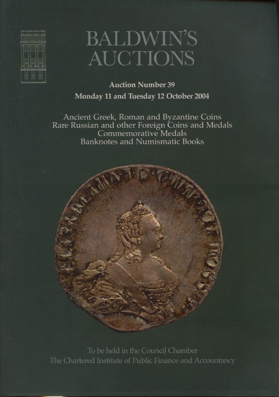Baldwins October 2004 Ancient Greek, Roman & Byzantine Coins, Rare Russian Coins