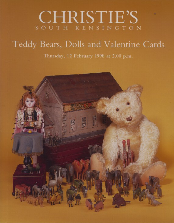 Christies February 1998 Teddy Bears, Dolls and Valentine Cards