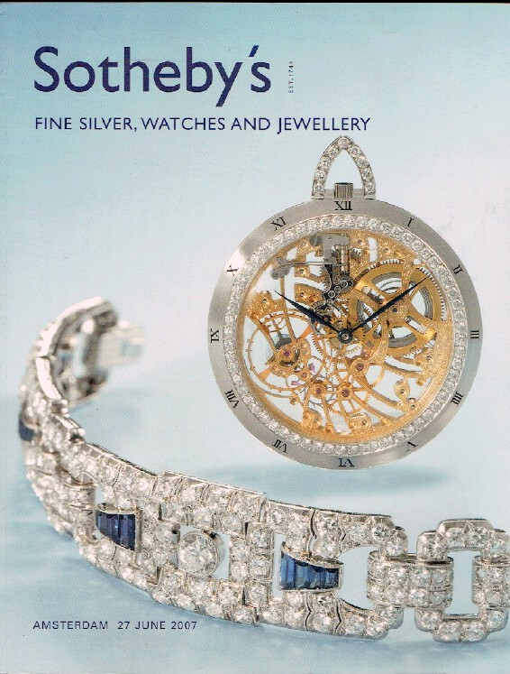 Sothebys June 2007 Fine Silver, Watches and Jewellery