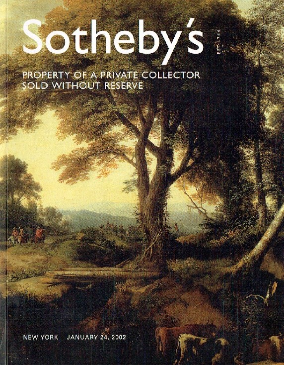 Sothebys January 2002 Property of A Private Collector Sold Without Reserve