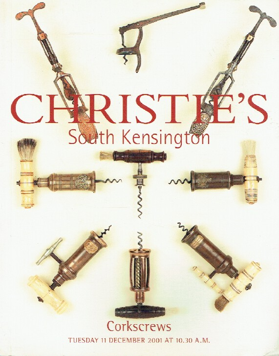 Christies December 2001 Corkscrews