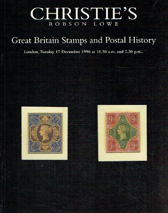 Christies December 1996 Great Britain Stamps and Postal History