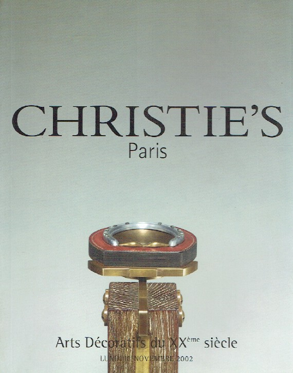 Christies November 2002 Decorative Arts From 20th Century