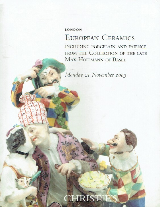 Christies November 2005 European Ceramics Max Haffmann Collection