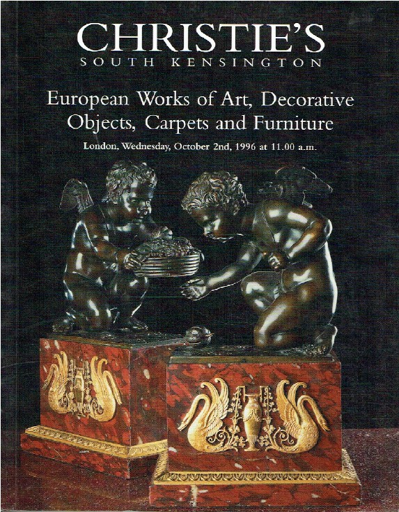 Christies October 1996 European WOA, Decorative Objects, Carpets & Furniture