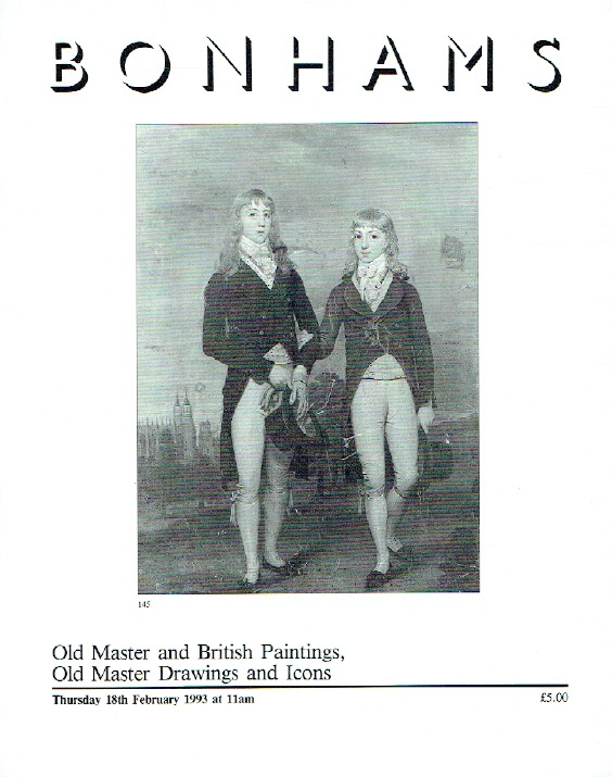 Bonhams February 1993 Old Master & British Paintings, Drawings and Icons