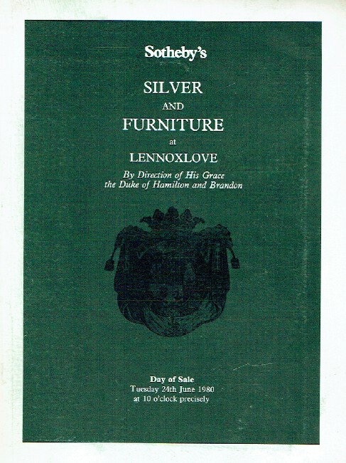 Sothebys June 1980 Silver and Furniture