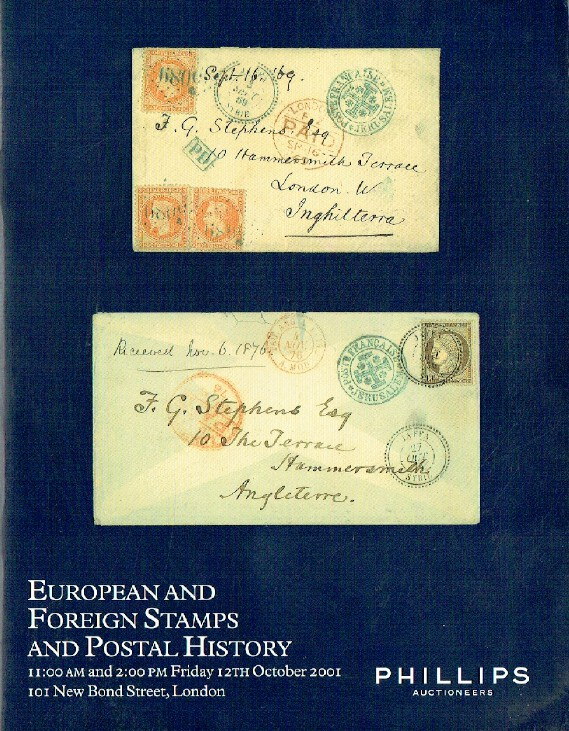 Phillips October 2001 European and Foreign Stamps & Postal History