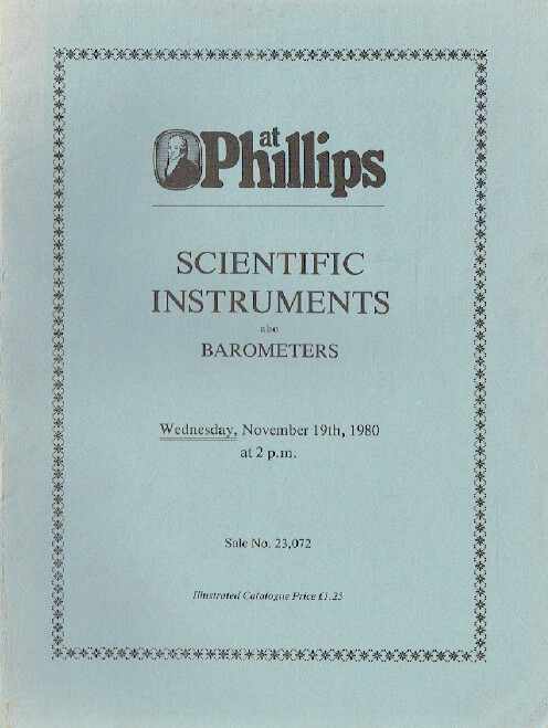 Phillips November 1980 Scientific Instruments also Barometers