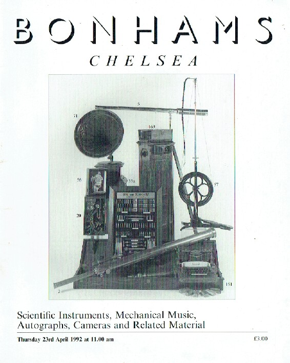 Bonhams April 1992 Scientific Instruments, Mechanical Music and Cameras