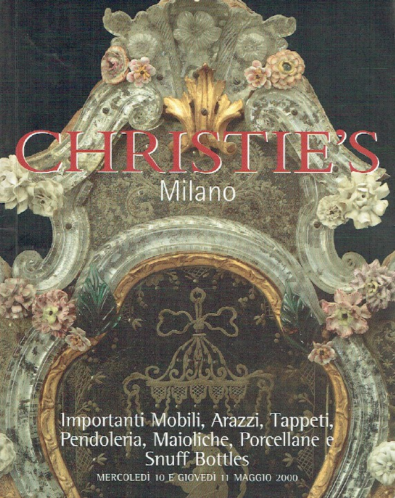Christies May 2000 Furniture, Tapestries, Rugs, Porcelain & Snuff Bottles
