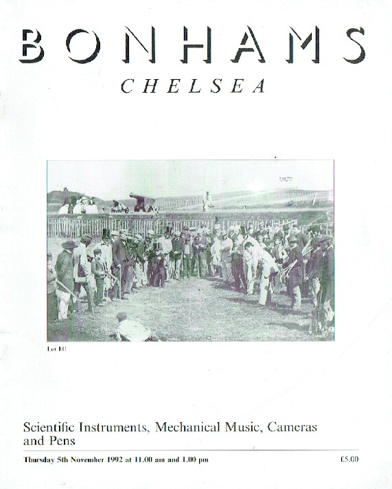Bonhams November 1992 Scientific Instruments, Mechanical Music, Cameras and Pens