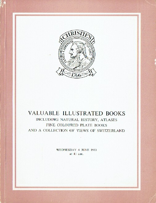 Christies June 1980 Valuable Illustrated Books - Views of Switzerland Collection