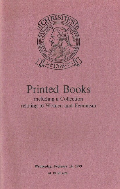 Christies February 1979 Printed Books including Collection Relating to Women