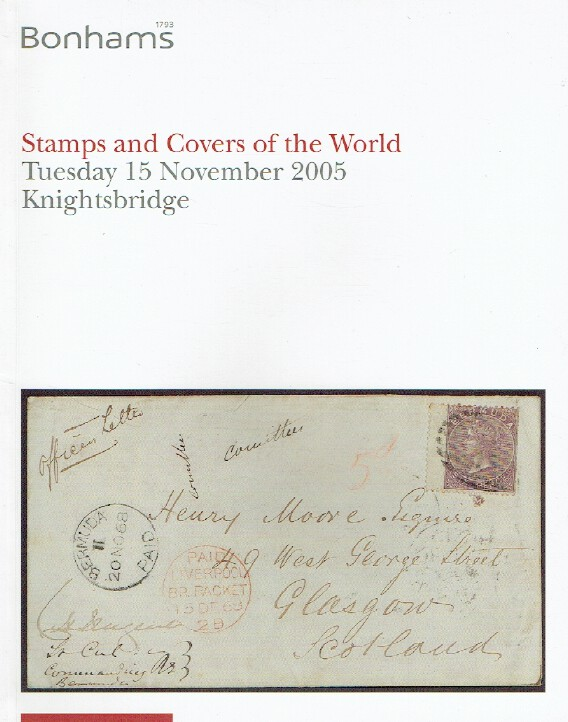 Bonhams November 2005 Stamps and Covers of the World