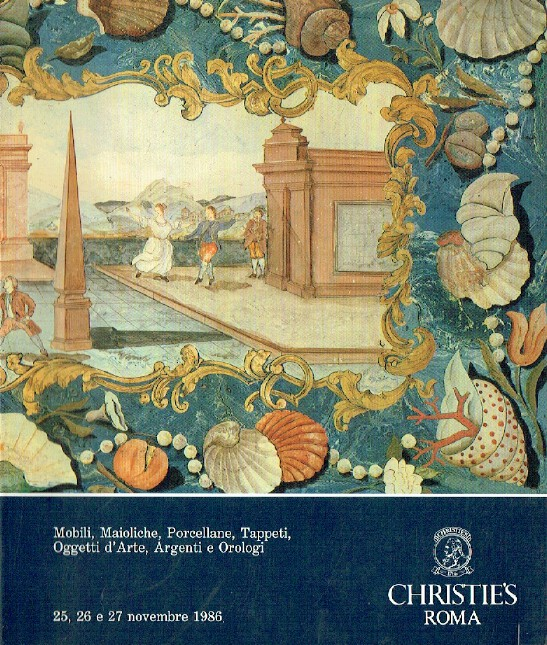 Christies November 1986 Furniture, Majolica, Rugs, Toys, Silver & Watches