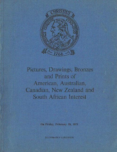 Christies February 1971 Pictures & Drawings American, Australian & South African