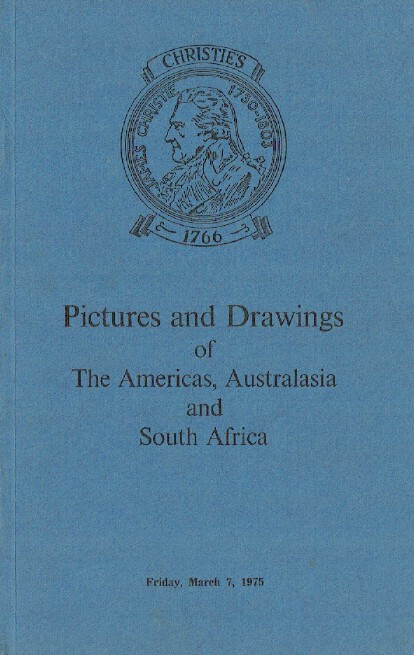 Christies March 1975 Pictures & Drawings of Americas, Australasia & South Africa
