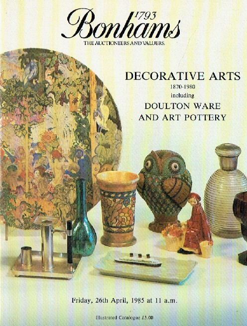 Bonhams April 1985 Decorative Arts 1870 - 1980
