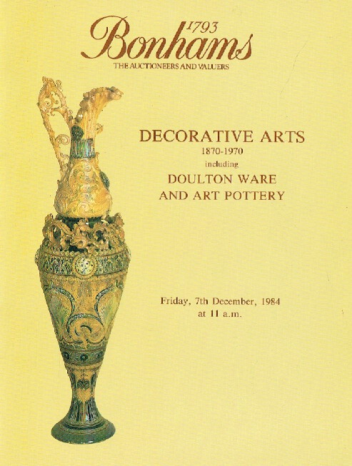 Bonhams December 1984 Decorative Arts 1870 - 1970