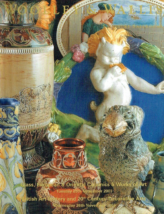 Woolley & Wallis November 2003 Glass, European Ceramics, WOA & British Pottery