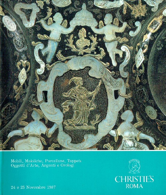 Christies November 1987 Furniture, Majolica, Rugs, Toys, Silver & Watches