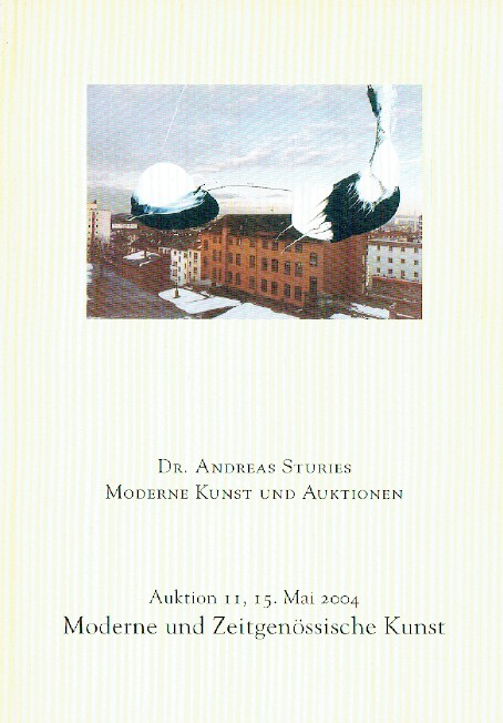 Andreas Sturies May 2004 Modern & Contemporary Art