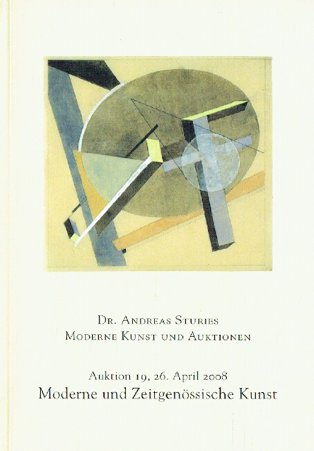 Andreas Sturies April 2008 Modern & Contemporary Art