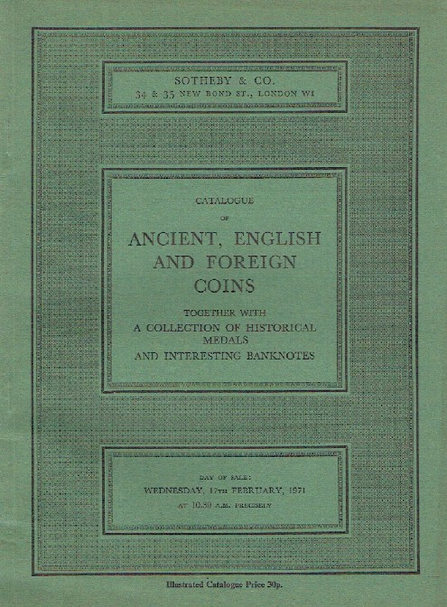 Sothebys February 1971 Ancient, English & Foreign Coins