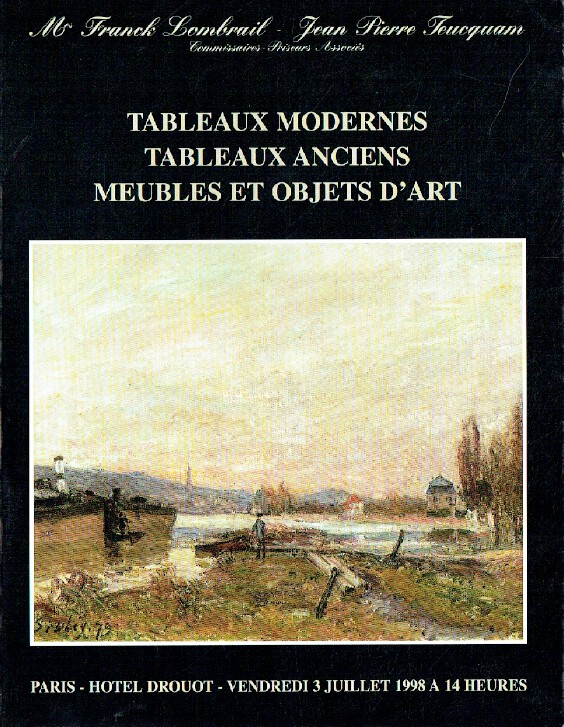 Lombrait - Teucquam July 1998 Modern & Old Master Paintings, Furniture & WOA