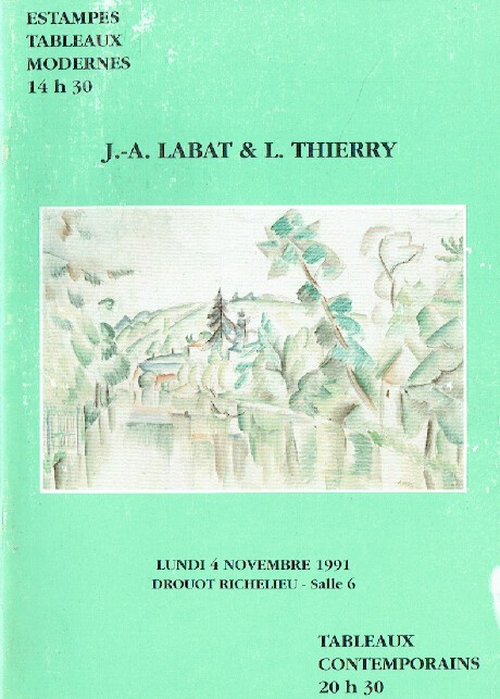 Labat & Thierry November 1991 Modern Illustrated Books, Prints & Paintings