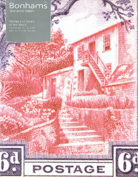 Bonhams July 2003 Stamps and Covers of The World