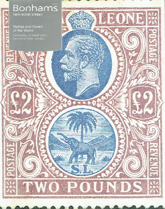 Bonhams March 2003 Stamps and Covers of The World