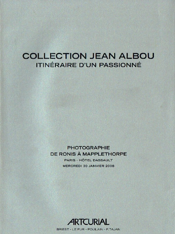 Artcurial January 2008 Jean Albou Collection Photographs from Ronis to Mappletho