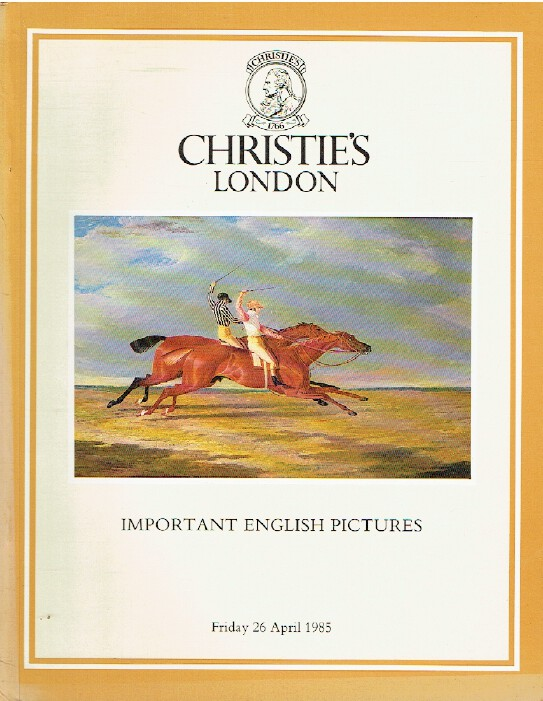 Christies April 1985 Important English Pictures