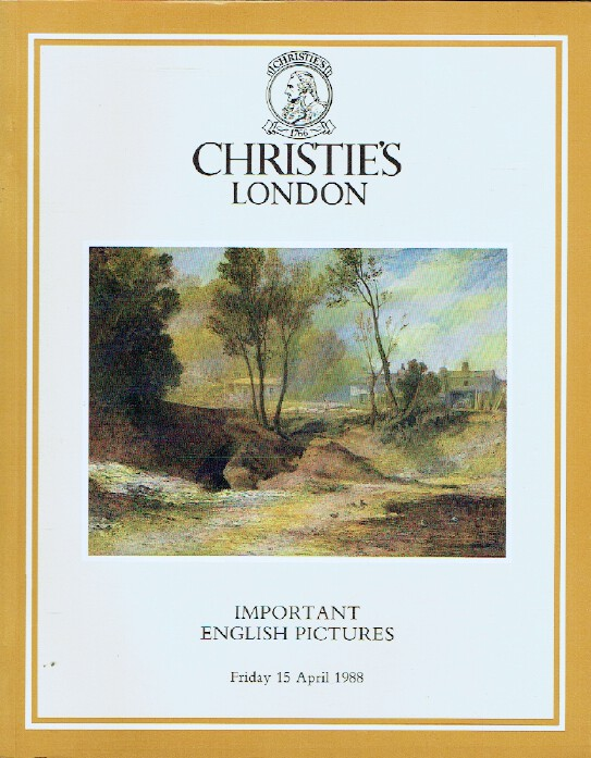 Christies April 1988 Important English Pictures